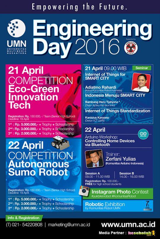 Engineering Day 2016 Umn Empowering The Future Event 2016 Kesekolah Com