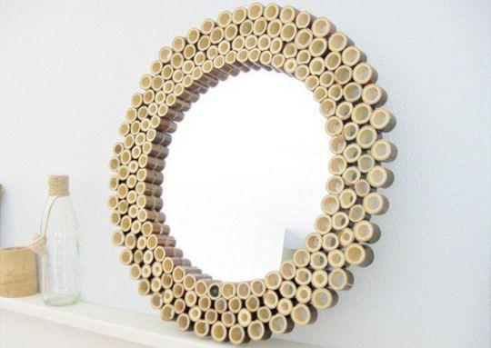 cara-menghias-cermin-dari-bambu