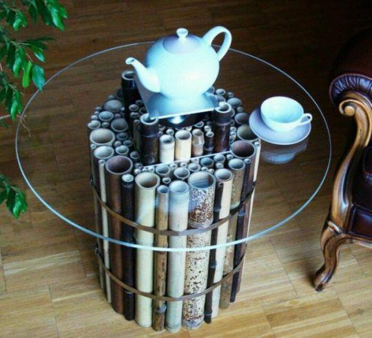 cara-membuat-meja-dengan-penyangga-bambu