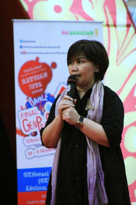 Ibu Pinta Manulang dari Yayasan Anyo Indonesia