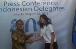 Sherina Jadi Duta One Young World 2011