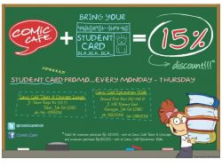 Comic Cafe Student Card Promo