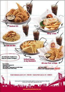 Manhattan Fish Market Student Card Promo