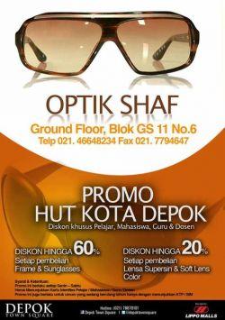 Promo Pembelian Frame & Sunglasses Diskon Utk Pelajar, Mahasiswa, Guru dan Dosen