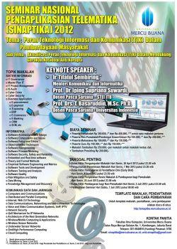 Seminar Nasional Pengaplikasian Telematika (Sinaptika) 2012