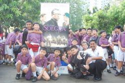 Serunya Nobar Film Soegija Bersama Sekolah Santo Yakobus