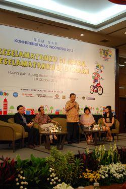 Seminar Konferensi Anak Indonesia 2012: Keselamatanku di Jalan, Keselamatanku di Sekolah