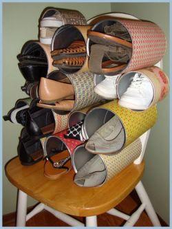 Kreatif Membuat Rak Sepatu yang Unik