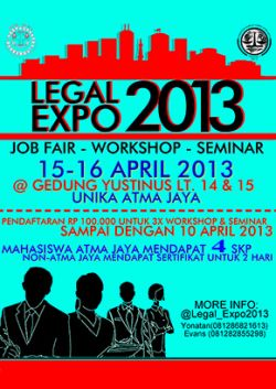 Atmajaya Legal Expo 2013