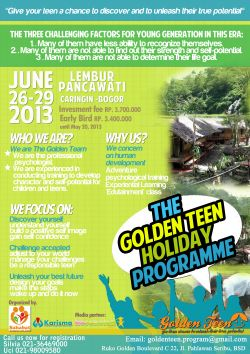 The Golden Teen Holiday Programme