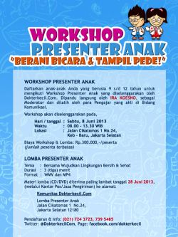 Workshop Presenter Anak