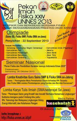 Pekan Ilmiah Fisika 2013 Universitas Negeri Semarang