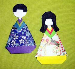 Cara Membuat Boneka Kertas Origami