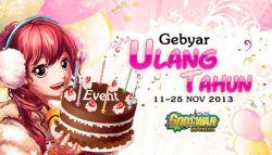 Event Gebyar Ulang Tahun Godswar Online Indonesia Berlangsung 11-25 November 2013!