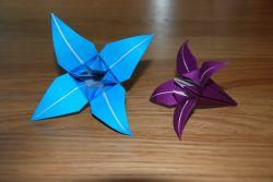 Bunga Lily dari Kertas Origami