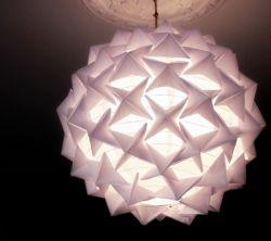 Menghias Lampu Rumah dengan Origami