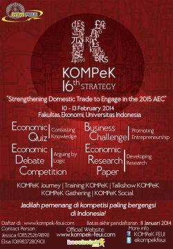 Kompetisi Ekonomi Terbesar untuk Siswa SMA/Sederajat Se-Indonesia