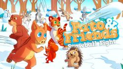 Bermain Lempar Bola Salju di Game Mobile Terbaru Pato dan Friends Snowball Fight
