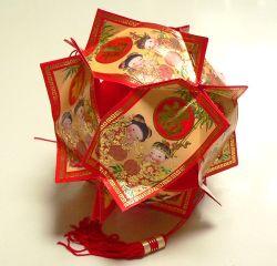 Membuat Hiasan Lentera dari Ang Pao