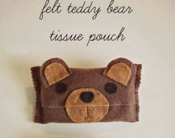 Membuat Tissue Pouch dari Kain Flanel