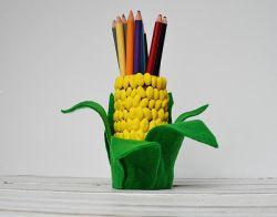 Membuat Tempat Pensil Berbentuk Jagung