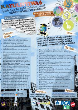 Katulistiwa 6 (Kompetisi Karya Tulis Tingkat Mahasiswa) Nasional 2014