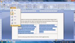 Cara Membuat Garis Diantara Kolom pada MS Word