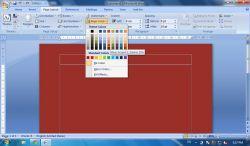 Cara Memberi Warna Halaman (Background Colour) pada MS Word