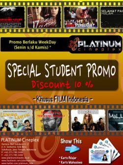 Platinum Cineplex Student Promo