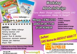 Workshop Adobe in Design