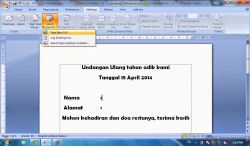 Cara Membuat Surat Masal / Mail Merge pada Microsoft Office Word