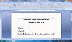 Fungsi Mailings pada Microsoft Office Word