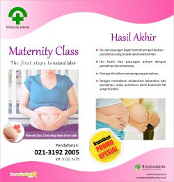 Promo Maternity Class (The First Steps to Natural Labor)