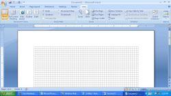 Membuat Bangun Datar dengan Gridlines dengan MS Word