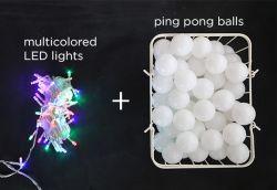 Membuat Kamar Tidur Berwarna-Warni dengan Bola Ping-Pong