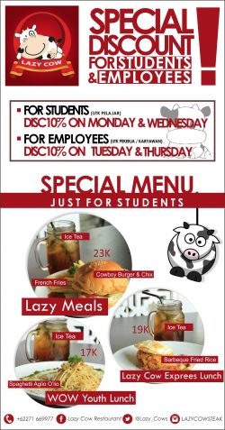 Promo Lazy Cow Restaurant