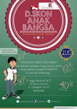 Diskon Anak Bangsa - Untukmu Para Pelajar Indonesia
