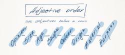 Pembentukan Adjective Order dalam Kalimat