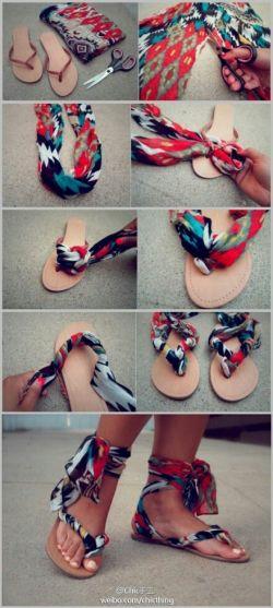 Sandal Jepit Menjadi Sandal Cantik