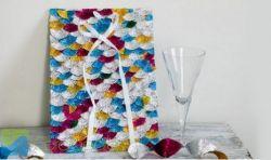 Dekorasi Backdrop Mozaik dengan Foil Cup Cake