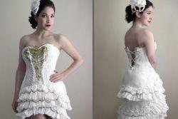 Wah, Gaun Indah Ini Terbuat dari Tisu Toilet!