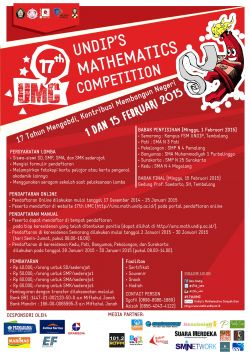 17th Undips Mathematics Competition