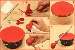 Membuat Drum Mainan dari Balon