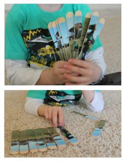 Puzzle dari Stick Es Krim