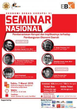 Seminar Nasional Ekonomi Bebas Korupsi (Ebk) VI
