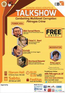 Talkshow Ekonomi Bebas Korupsi (Ebk) VI