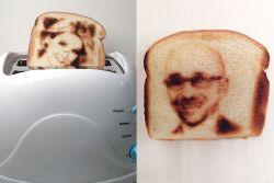Toaster Roti Juga Bisa Cetak Foto Selfiemu, Lho!