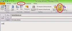 Cara Delay Delivery email di Outlook 2010