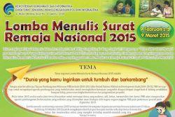 Yuk, Ikuti Lomba Menulis Surat Remaja 2015!
