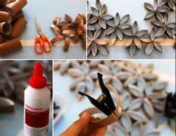 Kreasi Bunga Karton untuk Dinding Kamar